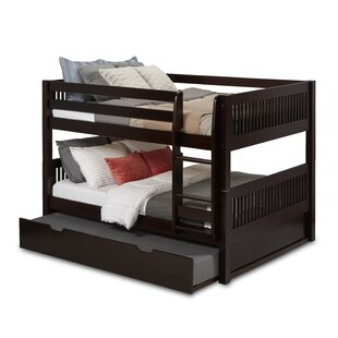 Inexpensive OakwoodFull Over Full Bunk Bed with Trundle by Harriet Bee Reviews (2019) & Buyer's Guide