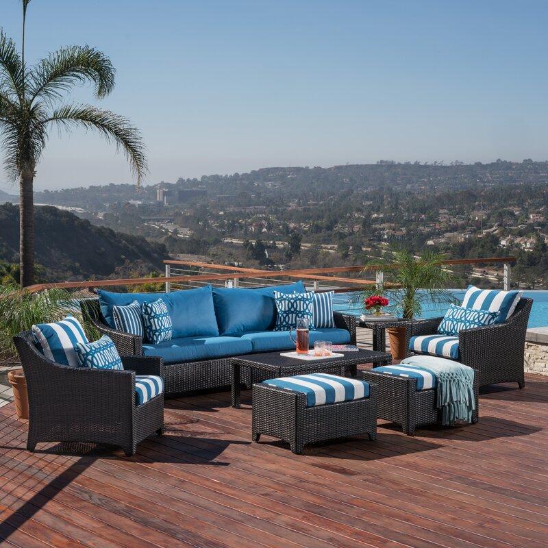 Northridge 8 Piece Sofa Set with Cushions