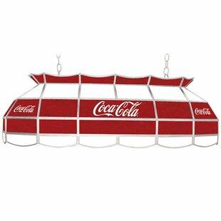 Trademark Global Coca Cola 3-Light Pool Table Light