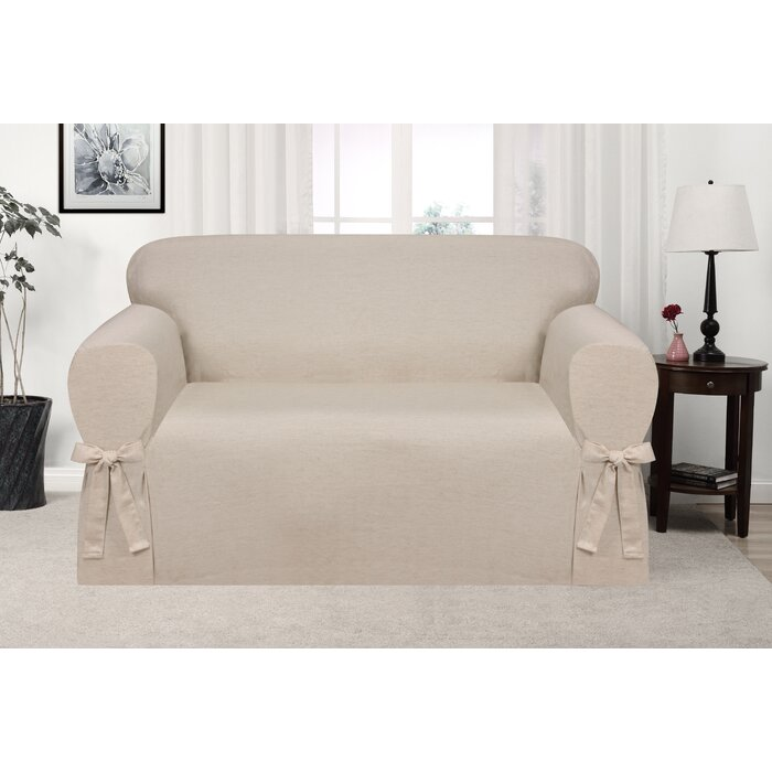 Astonishing Box Cushion Loveseat Slipcover Squirreltailoven Fun Painted Chair Ideas Images Squirreltailovenorg
