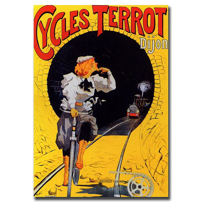 """Cycles Terrot"" Vintage Advertisement on Wrapped Canvas"