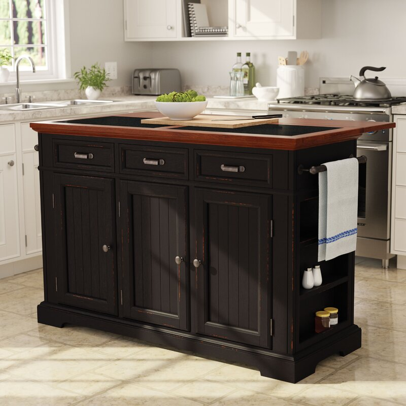 Large Kitchen Islands With Granite Top August GroveCintron Large Kitchen Island with Granite Top