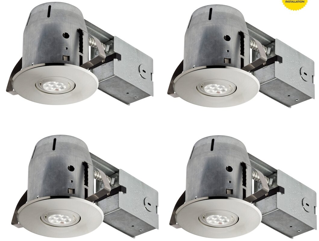 Globe electric company ic rated swivel recessed lighting kit ic rated swivel recessed lighting kit mozeypictures Gallery