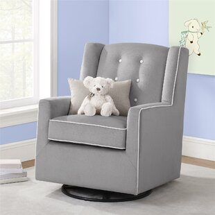 Emmett Button Tufted Swivel Glider by Baby Relax