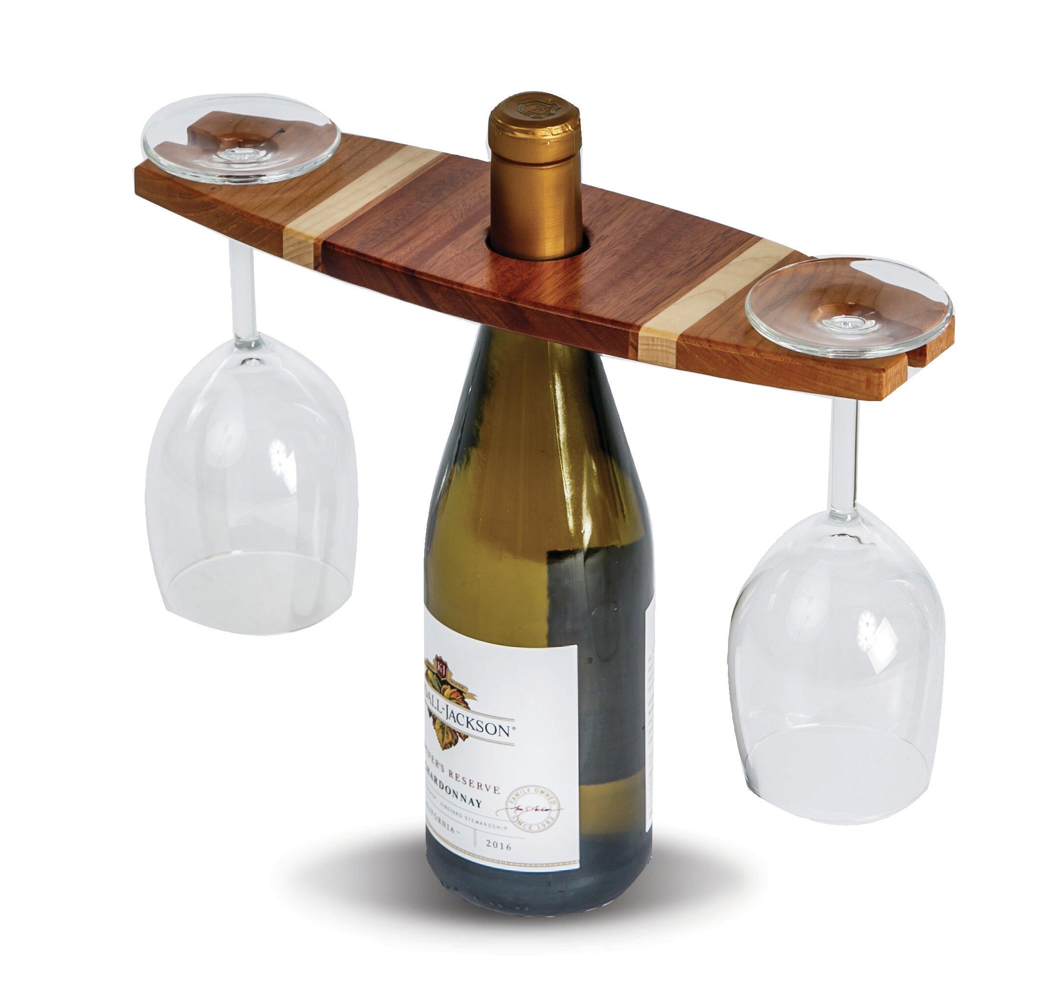 Breakwater Bay Ferrin 1 Bottle Tabletop Wine Glass Rack Wayfair