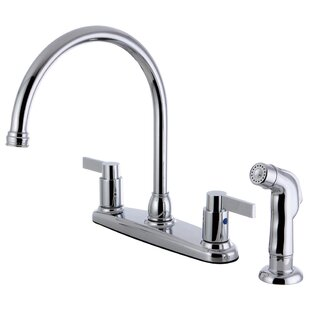 Kingston Brass NuvofusionDouble Handle Kitchen Faucet with Side Sprayer