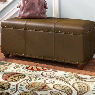 Rohrbaugh Faux Leather Storage Bench by Charlton Home