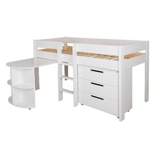 Single (3') Mid Sleeper Bed With Desk And Chest By Stompa