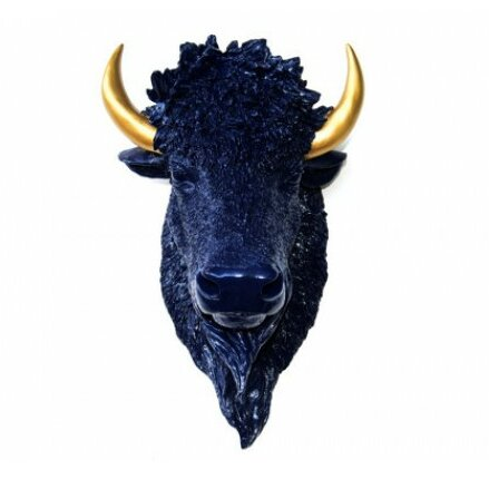 Near And Deer Faux Taxidermy Bison Head Wall D 233 Cor