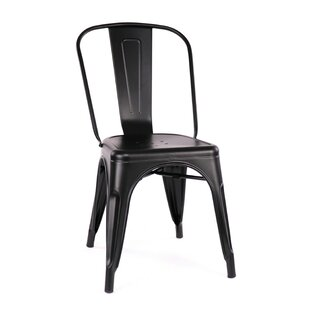 Despres Glossy Stackable Dining Chair (Set Of 2) by Williston Forge New