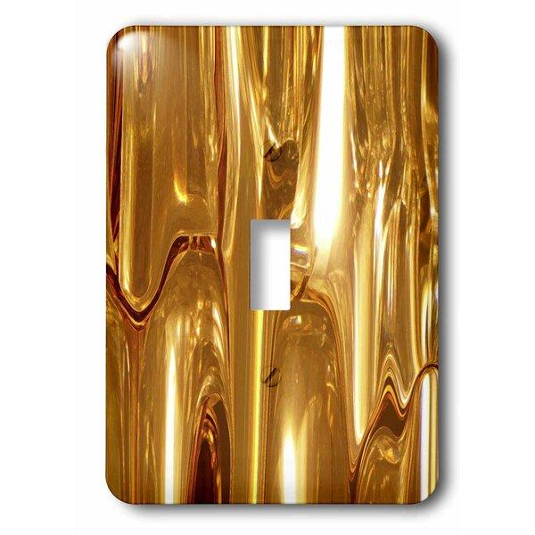 3drose Liquid Gold Ii 1 Gang Toggle Light Switch Wall Plate Wayfair