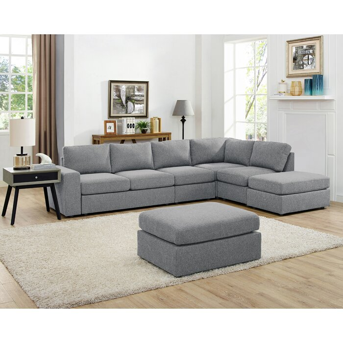 Groovy Gosnell Modular Sectional With Ottoman Uwap Interior Chair Design Uwaporg