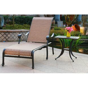 Banton Reclining Chaise Lounge with Table