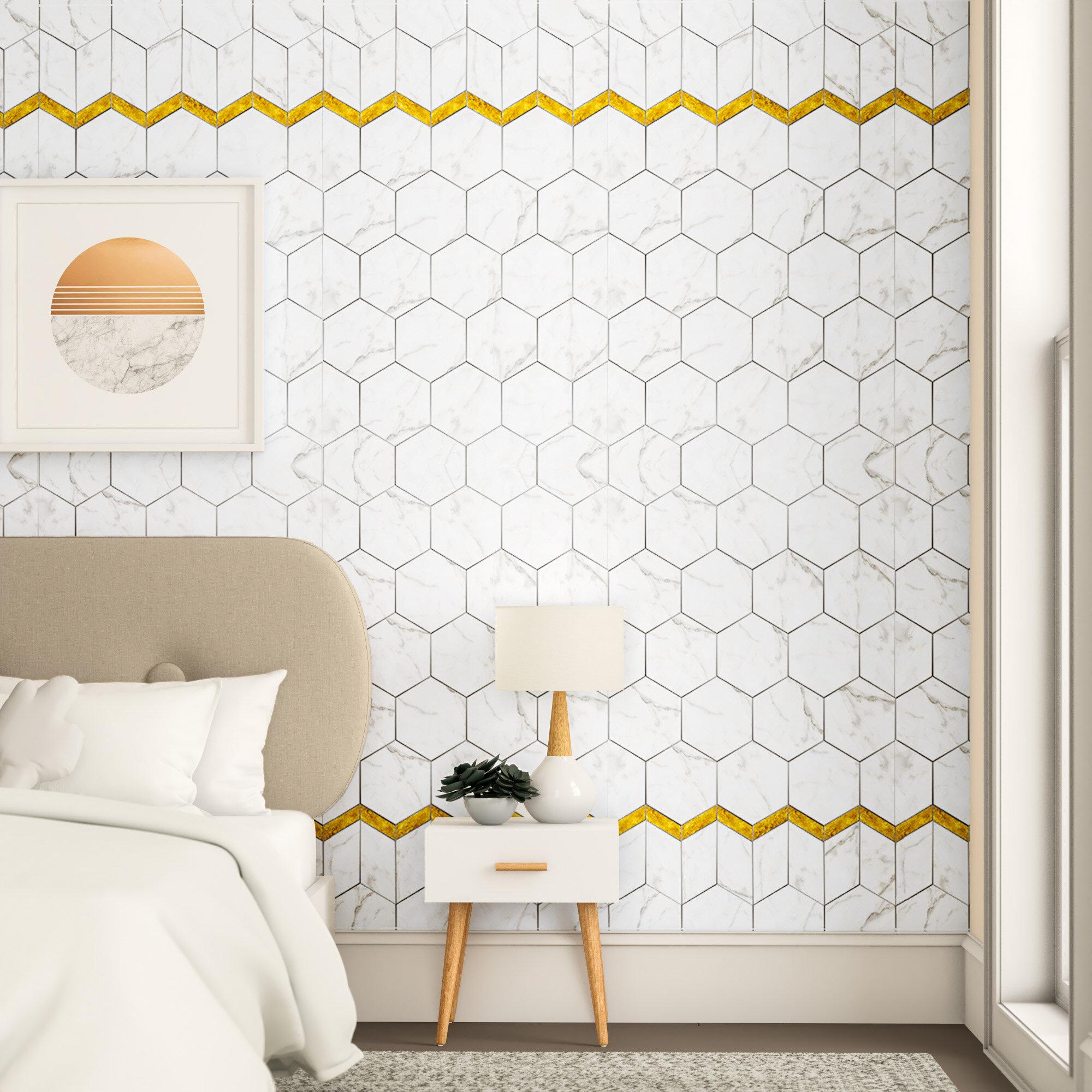 Trule Brewster 70 9 L X 47 3 W Peel And Stick Wallpaper Tile Wayfair