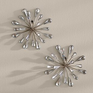 Silver Starburst Wall Decor | Wayfair