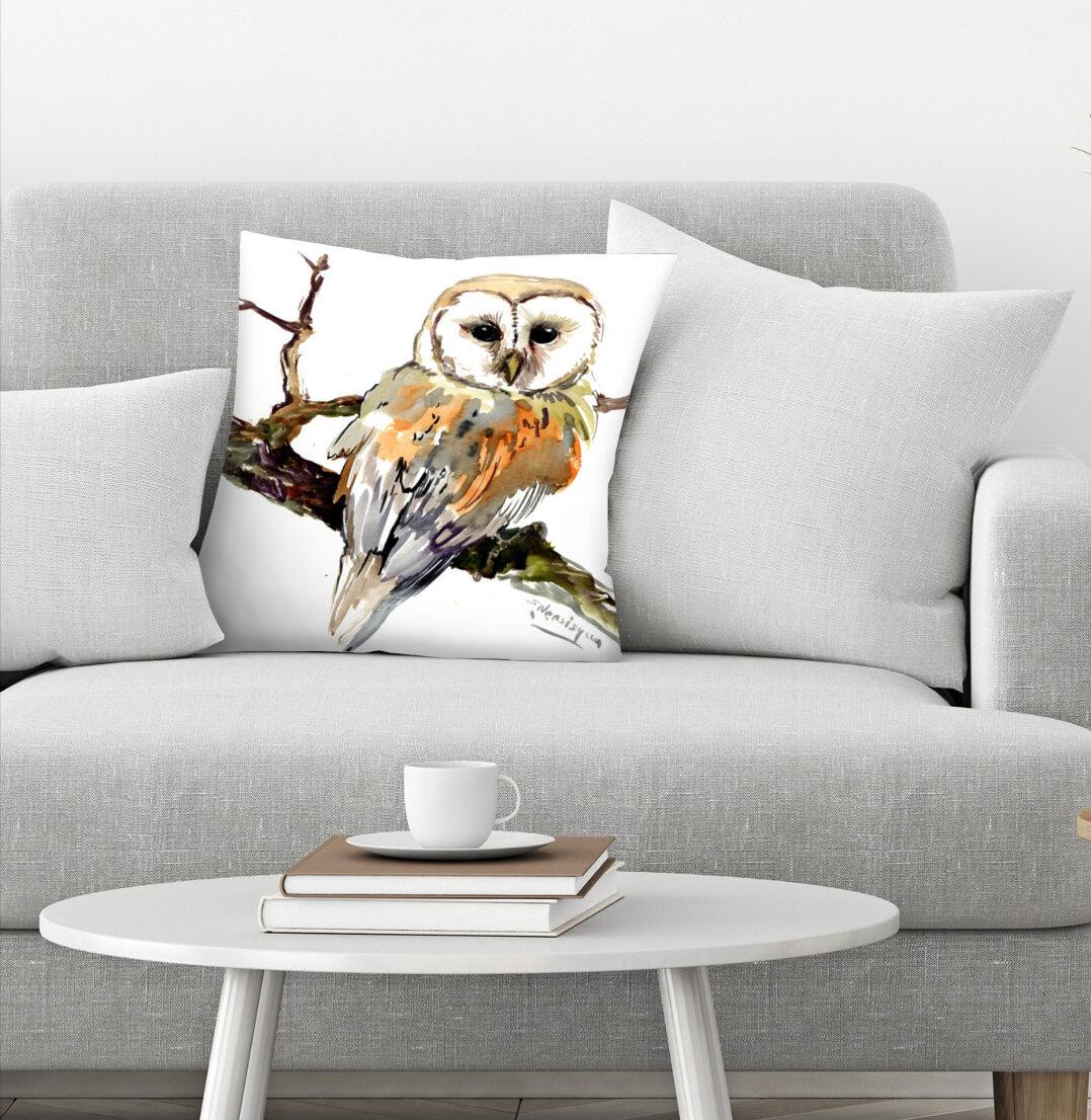 East Urban Home Suren Nersisyan Barn Owl Throw Pillow Cover Wayfair