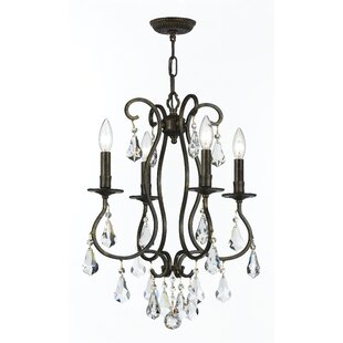 Shaughnessy Traditional 4-Light Candle Style Chandelier by Astoria Grand