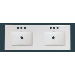 48 inch double sink vanity top only. 48  Double Bathroom Vanity Top Ceramic Tops You ll Love Wayfair