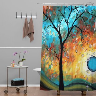 Deny Designs Madart Inc. Aqua Burn Extra Long Shower Curtain