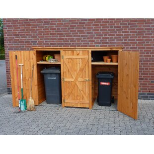 Wooden Triple Bin Store  sc 1 st  Wayfair & 3 Wheelie Bin Storage Garden   Wayfair.co.uk