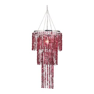 Felicia Triple Tier 1-Light Crystal Pendant By House of Hampton