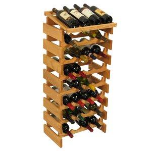 Dakota 32 Bottle Floor Wine Rack by Wooden Mallet
