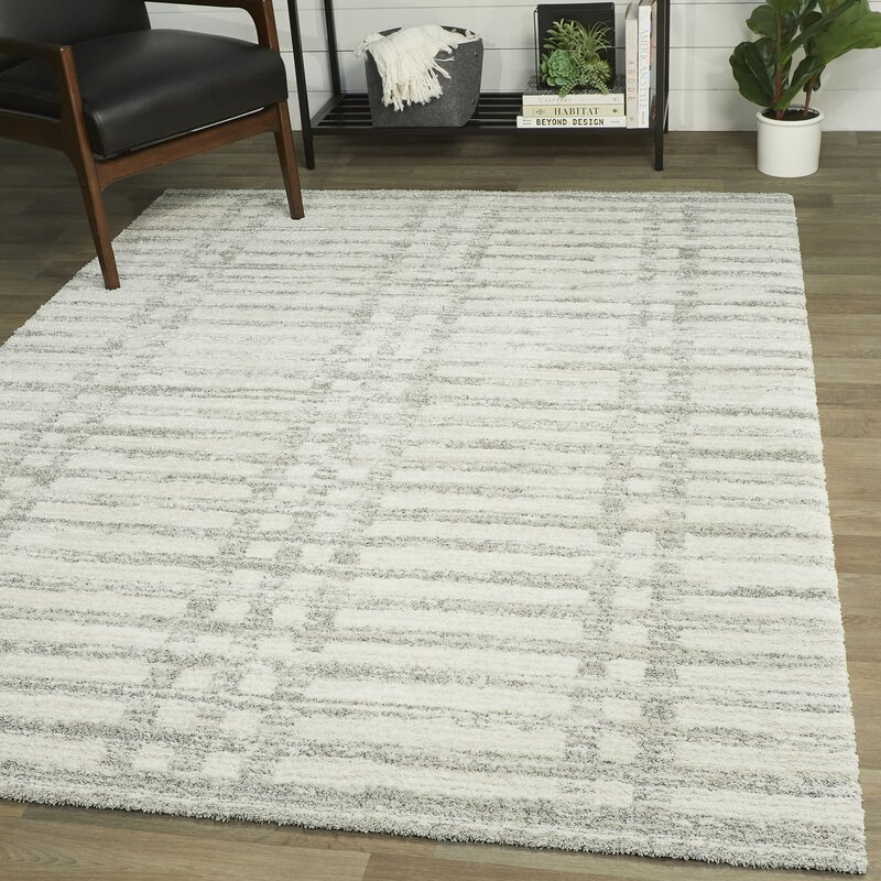 Coastal Farmhouse Daytona Power Loom Gray Rug Wayfair