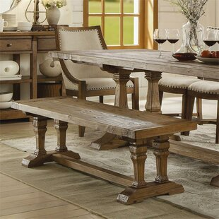 Gracie Oaks Woosley Wood Dining Bench