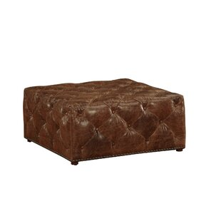 Leather Cocktail Ottoman b..