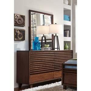 Schuster 6 Drawer Double Dresser with Mirror by Brayden Studio
