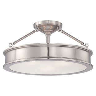 Bowers 3-Light Semi-Flush Mount by Beachcrest Home