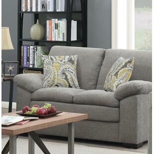 Kober Pebbled Standard Loveseat by Charlton Home 2019 Sale