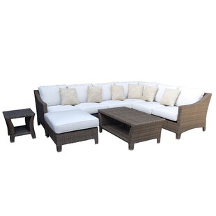 Galen 9 Piece Rattan Sectional Set with Cushions By Bayou Breeze