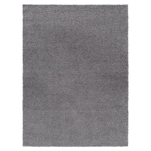 Rhys Platinum Shag Gray Area Rug byUnion Rustic