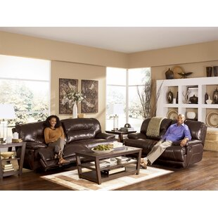 Tankersley Leather Reclining Loveseat