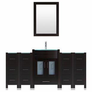 Peterman Modern 84 Single Bathroom Vanity Set with Mirror by Orren Ellis