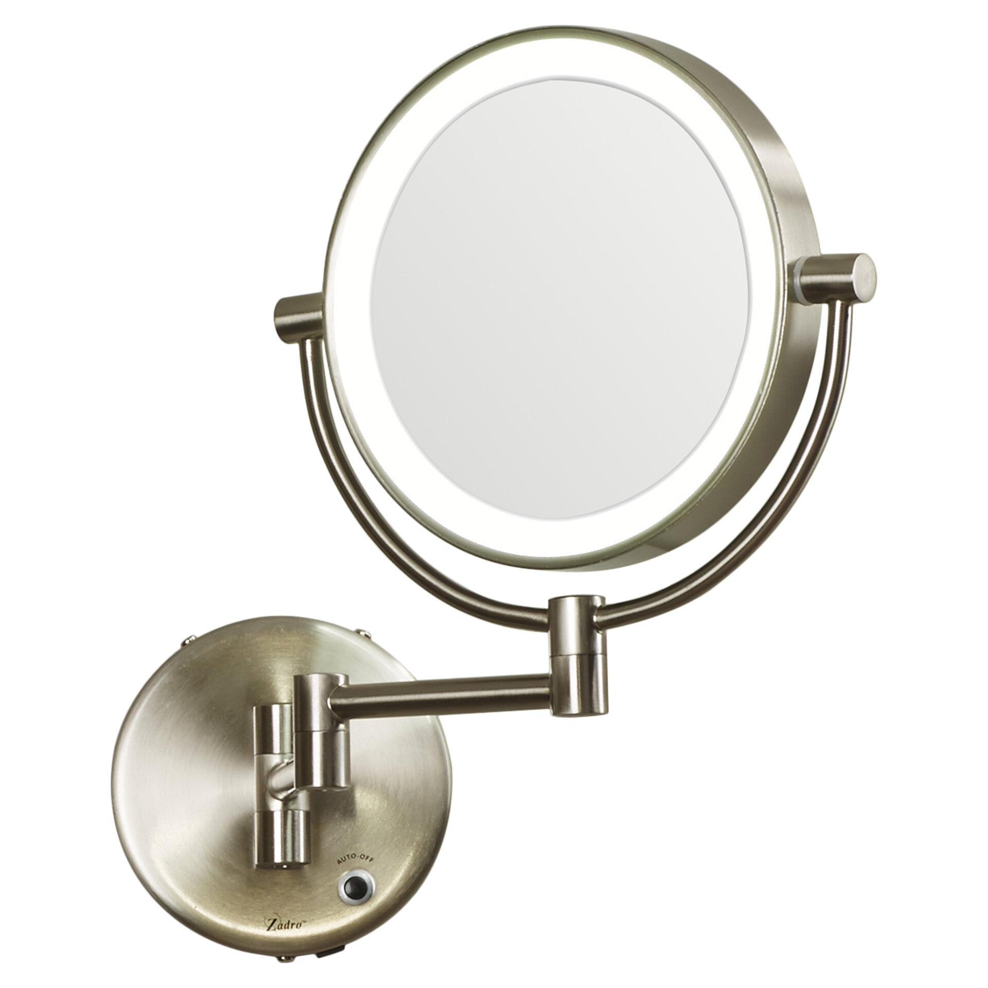 Symple Stuff Verdell Howell Modern Contemporary Beveled Lighted Magnifying Wall Mount Mirror Reviews Wayfair