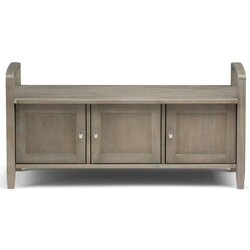 Alcott Hill Oyama Solid Wood Cabinet Storage Bench Reviews Wayfair