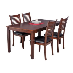 Downieville-Lawson-Dumont 5 Piece Solid Wood Dining Set Loon Peak