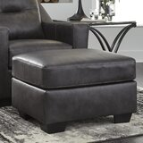 Phenomenal Charcoal Gray Leather Ottoman Wayfair Squirreltailoven Fun Painted Chair Ideas Images Squirreltailovenorg