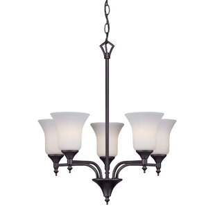 Crothersville 5-Light Shaded Chandelier by Alcott Hill