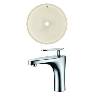 Online Reviews Ceramic Circular Undermount Bathroom Sink with Faucet and Overflow ByRoyal Purple Bath Kitchen