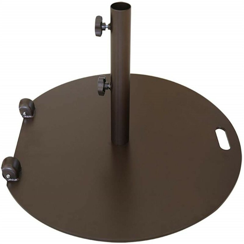Symple Stuff Alisson Steel Free Standing Umbrella Base Reviews Wayfair