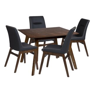Maxson 5 Piece Solid Wood Dining Set