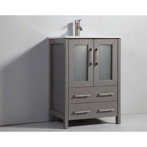 Holley 24  Single Bathroom Vanity Set with Mirror24 Inch Bathroom Vanities You ll Love   Wayfair. 24 In Vanity With Sink. Home Design Ideas