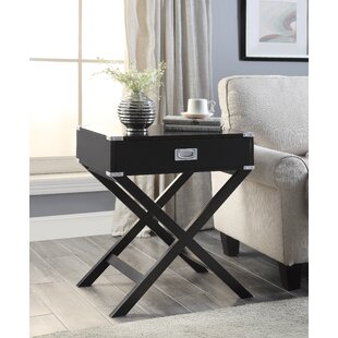 Axis End Table with Storage