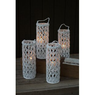 Tall Willow Lantern (Set Of 4) by Bungalow Rose Purchase