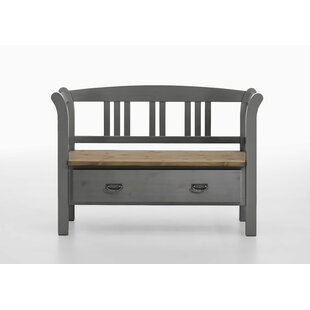 Wooden Storage Bench By August Grove