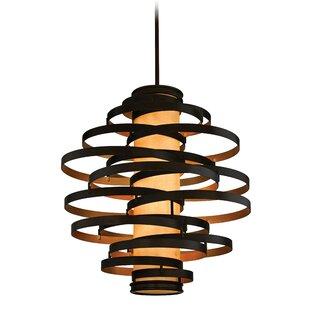 Vertigo 6-Light Geometric Chandelier by Corbett Lighting