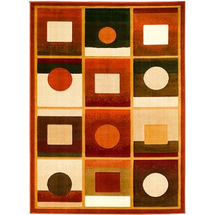 Top Reviews Orange/Black Area Rug By AllStar Rugs